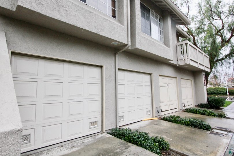 Row of garages at Canyon View  in Lake Forest, CA