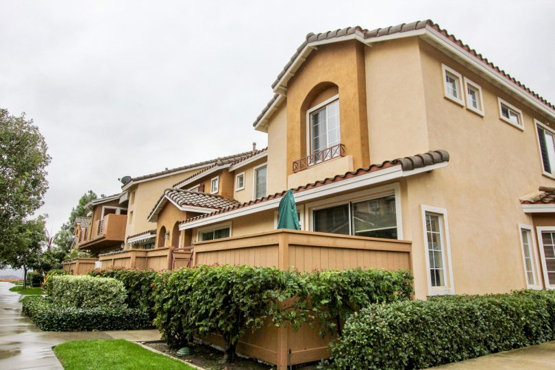 two story townhome with private patio in palermo community in lake forest california