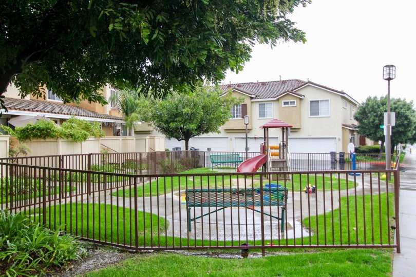 gorgeous town home community with playground/tot lot for children in Palermo California