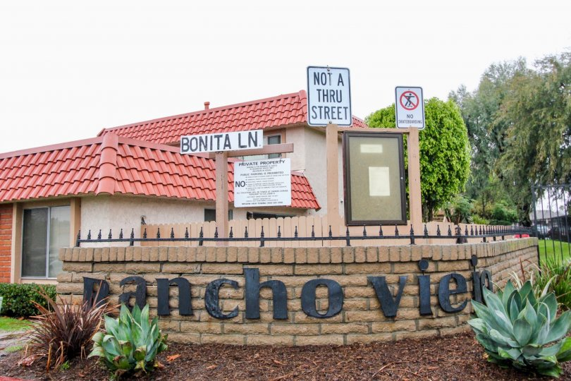 A cloudy sky above the Rancho Viejo Condos II in Lake Forest, CA.