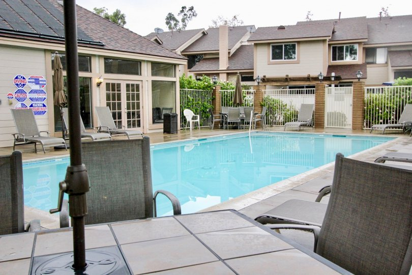A great pool at the Smoketree community in Lake Forest, CA.