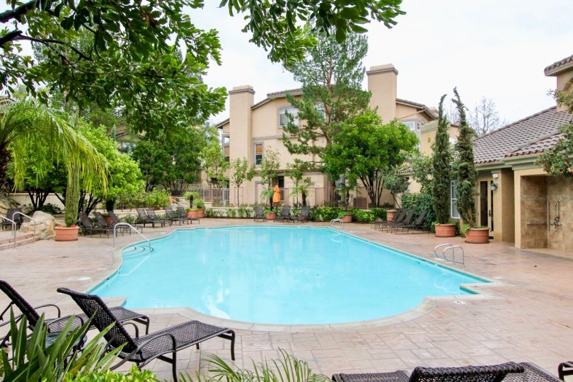 A nice pool in the Tuscany at Foothill Ranch in Lake Forest, CA