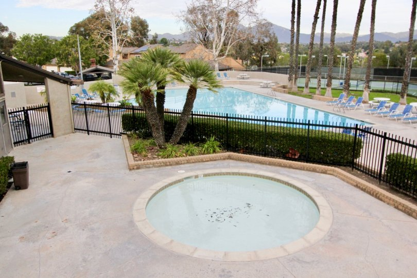 the aegean heights is a triangle model swimming pool of the mission viejo in california