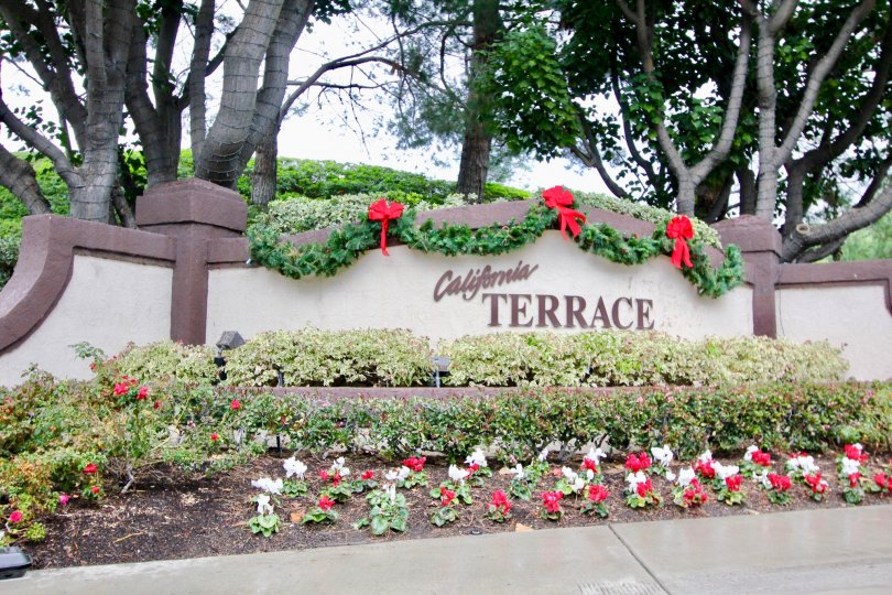 The California Terrace in the Mission Viejo with a beautiful Compound wall and flower garden