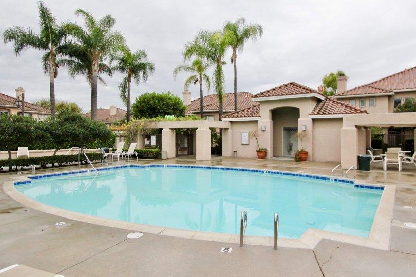 Nice interior pool at California Terrace, Mission Viejo, Califronia