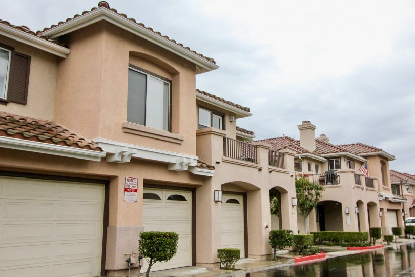 Overcast skies above California Terrace in Mission Viejo, CA