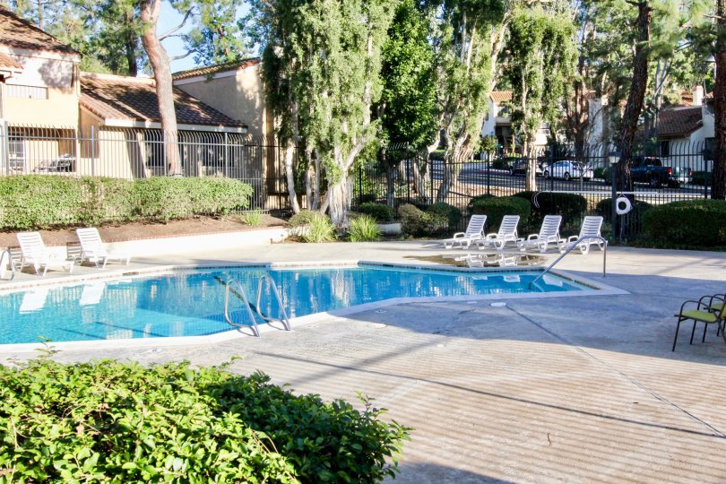 the la mancha is a fantastic swimming pool of the mission viejo city in california