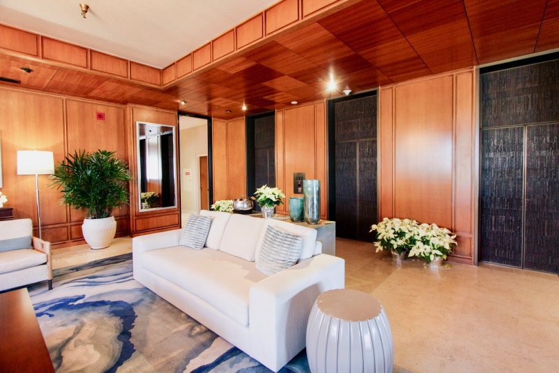 Stunning wood interiors and decor at Lido Park Place in Newport Beach, CA