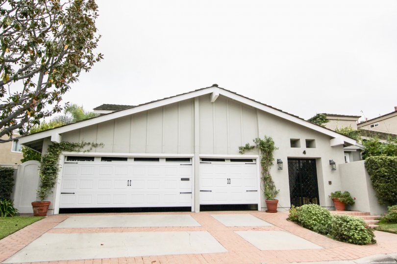 Three car garage in the Big Canyon Deane community in Newport Beach, California.