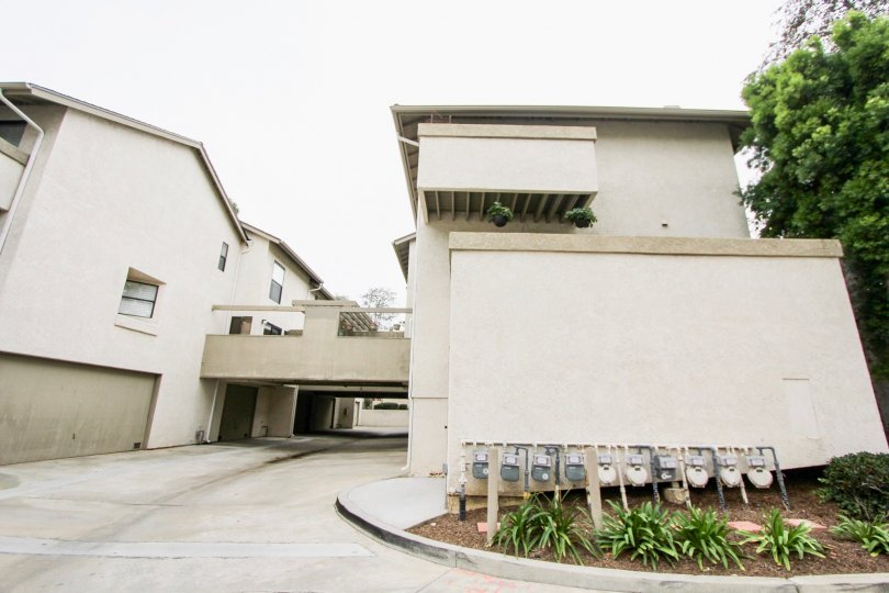 Drive way view of Harbor Woods community, Newport Beach, CA