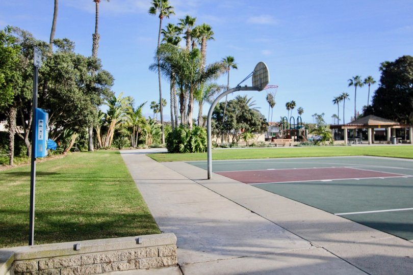 the newport marina villas is a tennis court of the newport beach city in ca