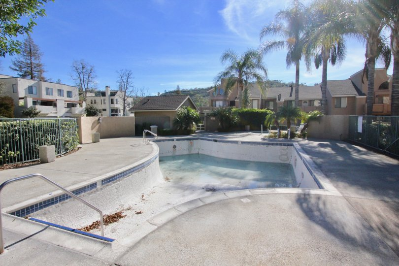 Canyon Glen Orange California with swimming pool and nice coconut trees in its compound wallside