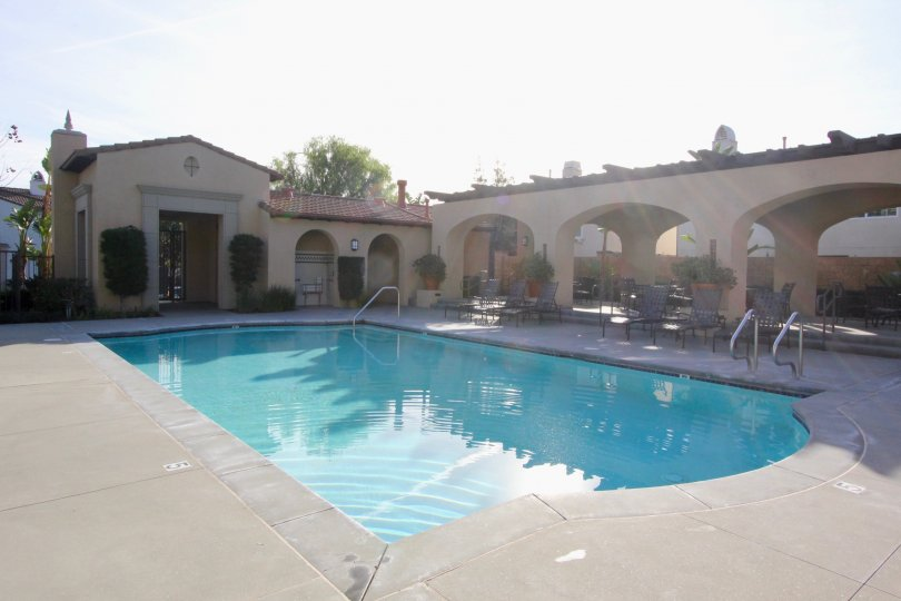 Plenty of places to lounge around the pool at Casita in the city of Orange.