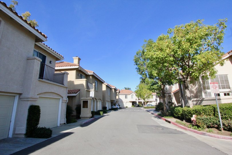 Montevista Orange California neatly builded homes in a straight way with good roads