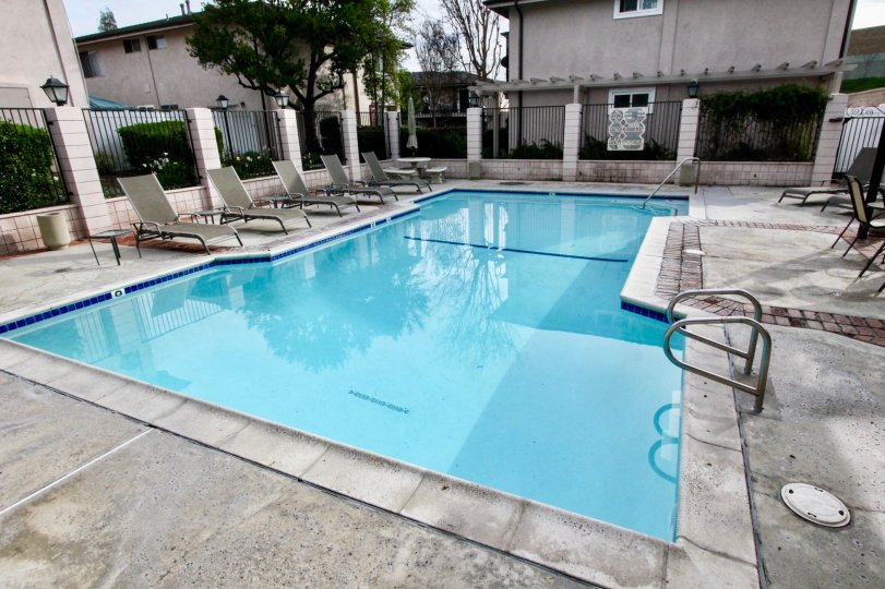 A beautiful pool at Park Orleans at Orange California