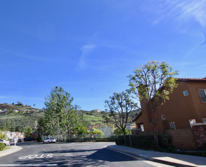 The Village Orange California with attractive blue sky look in a sunny day with cute trees