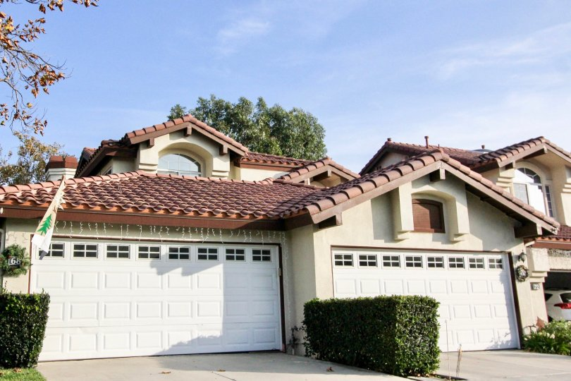 Bright sunny day near villas having ample of parking in Candelero of Rancho Santa Margarita