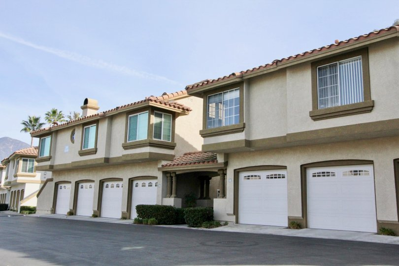 Multi family housing with garages in the community of Casafina in Rancho Santa Margarita, California