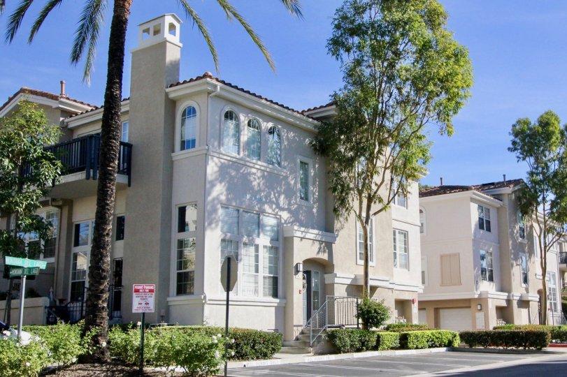 Beautiful multilevel housing units in the community of Cierra Del Lago in Rancho Santa Margarita, California