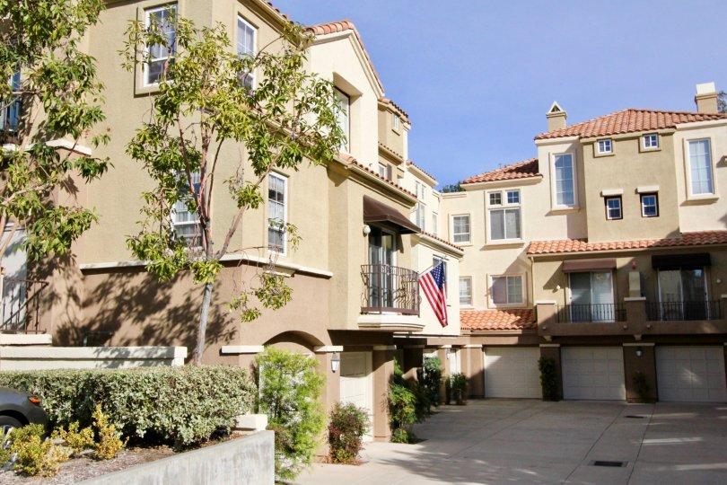 Beautiful architecture in the Corte Melina community in Rancho Santa Margarita, California.