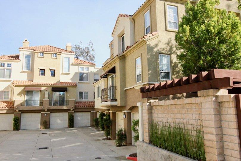A courtyard of houses in Corte Melina in Rancho Santa Margarita, CA