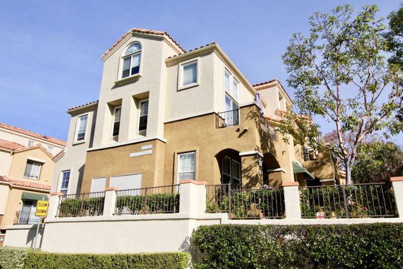 Beautiful architecture at Corte Melina in Rancho Santa Margarita, California.