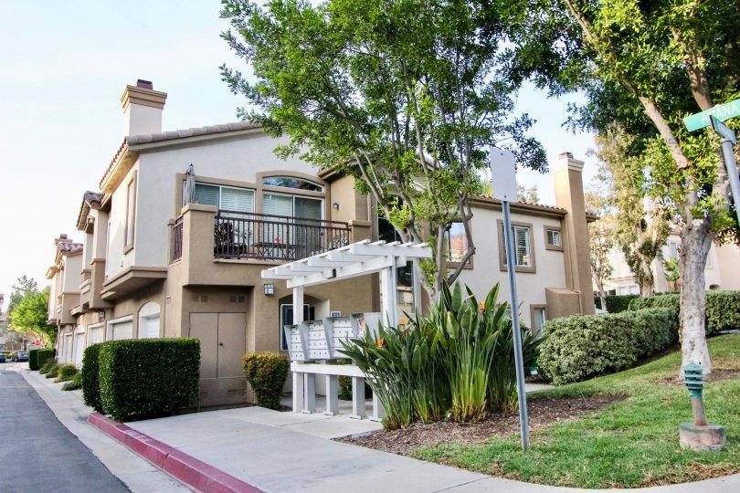 Nice view at front with lawn and balcony of villa in La Ventana of Rancho Santa Margarita