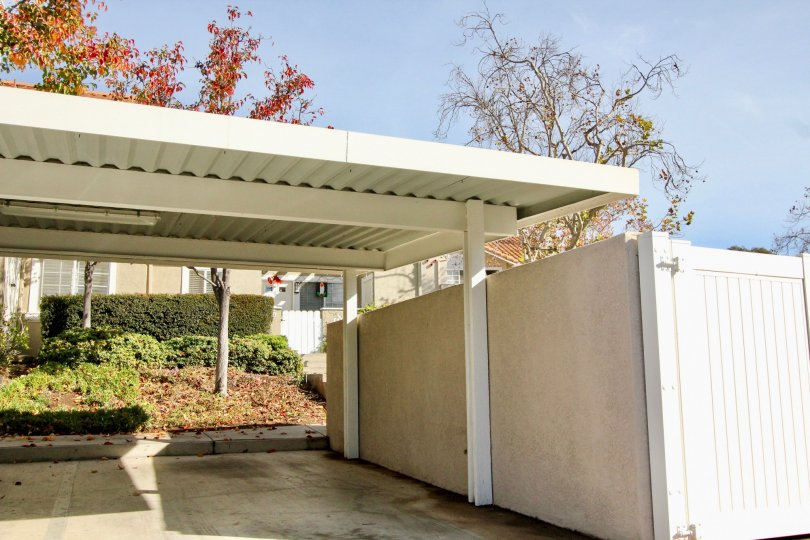 A carport in front of a house in Rancho Santa Margarita, California.