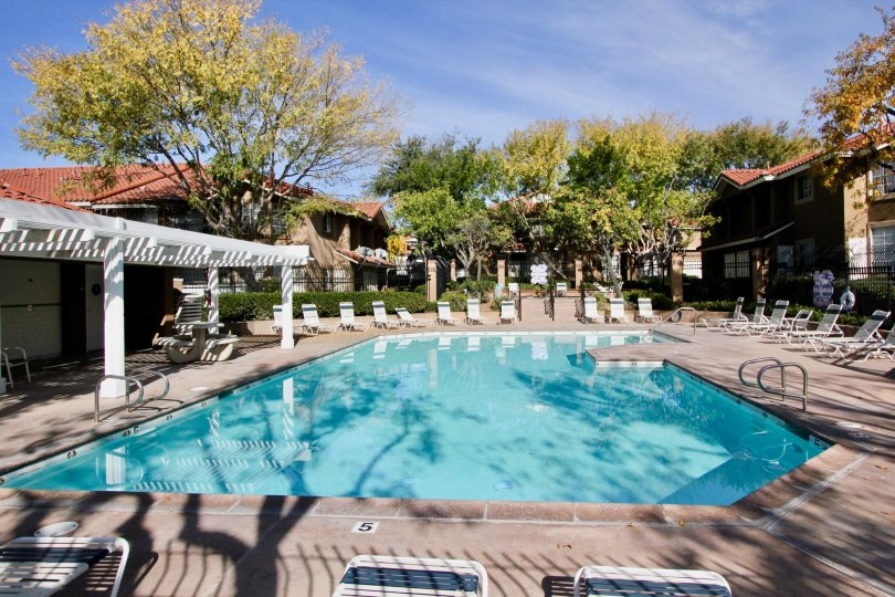 A large pool in Mission Courts in Rancho Santa Margarita, CA