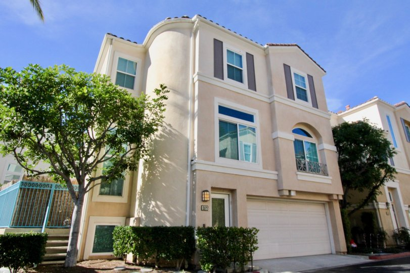 Three-story, adobe-look home in the Month Del Lago area of Rancho Santa Margarita, CA