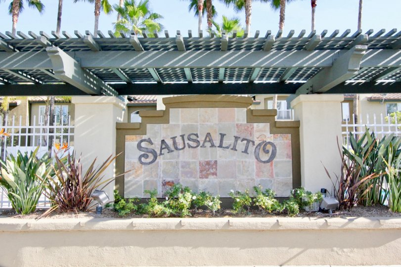 Front entry of the Sausalito community on a sunny day