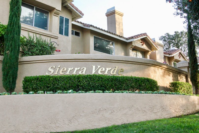 The entrance to Sierra Verde in Rancho Santa Margarita, California.