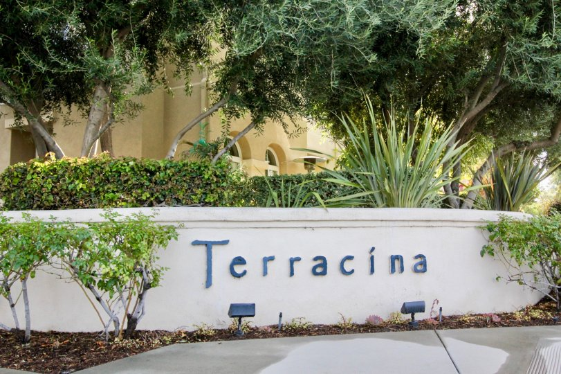 The entrance to the community of Terracina in the city of Rancho Santa Margarita, California
