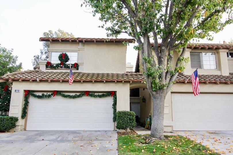 Enclosed garages in the Tierra Linda community in Rancho Santa Margarita, California.