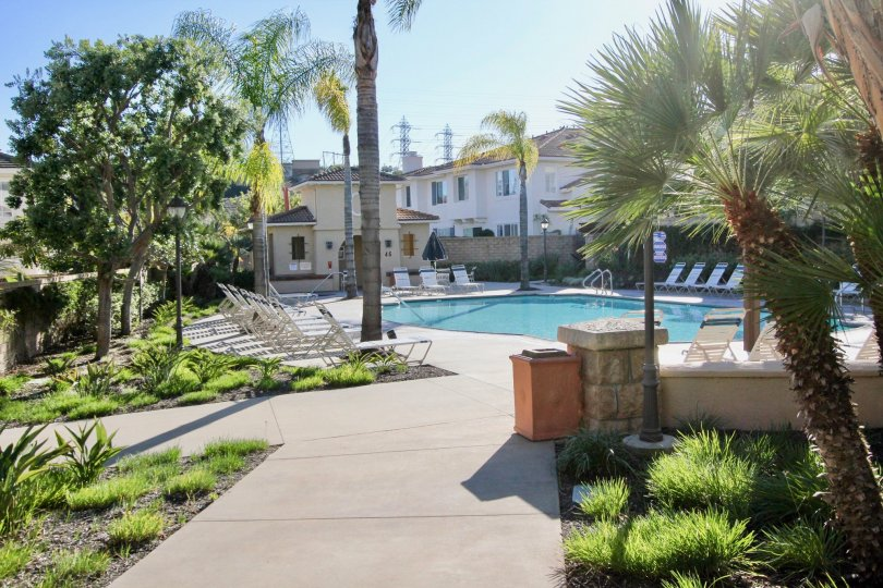 Access to communal pool area in this home in Trinidad of San Clemente, CA