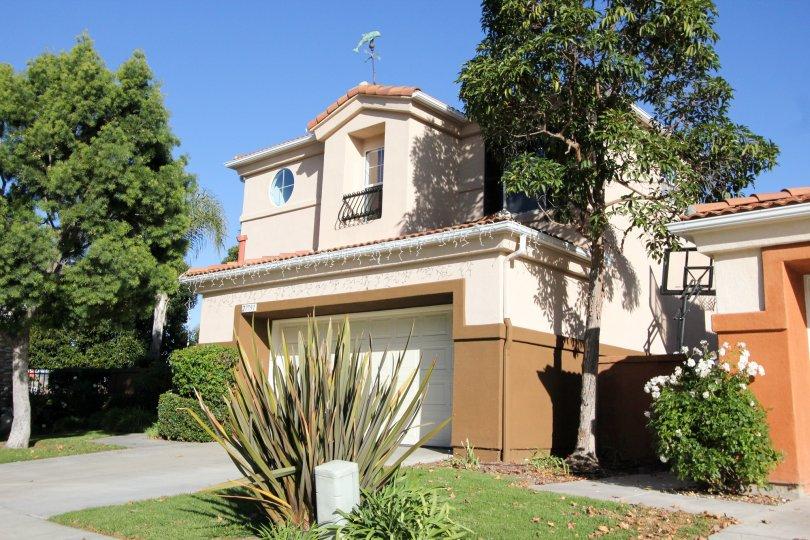 Clear sky and home at Camparilla in San Juan Capistrano, CA