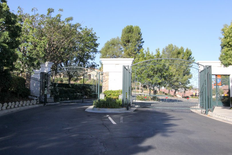 Front gate at the Campanilla in San Juan Capistrano, CA