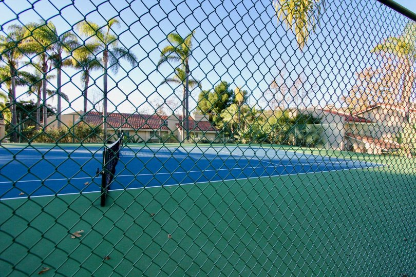 Tennis courts at Cancun Racquet Club in San Juan Capistrano, CA