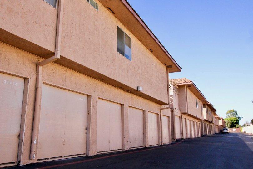 A row of different condos in Capistrano Villas in San Juan Capistrano, CA