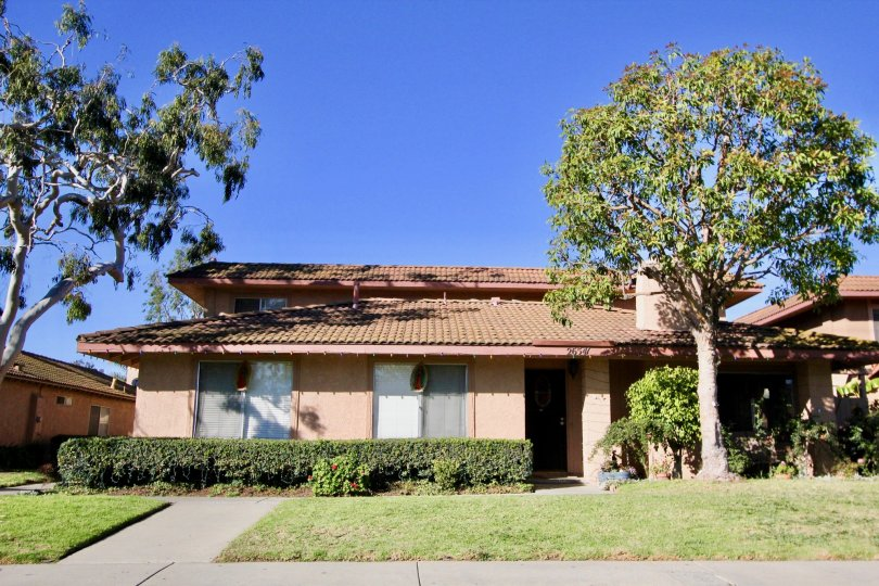 Clear skies and lawn at Capistrano Villas in San Juan Capistrano, CA