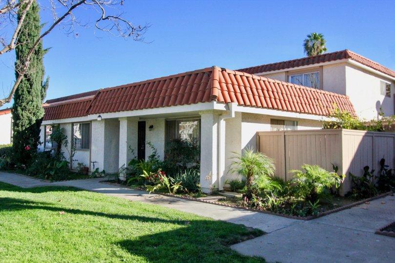 House and lawn in Capistrano Villas in San Juan Capistrano, CA
