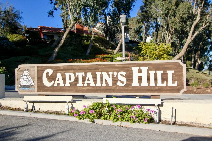 Front sign at Captain's HIll in San Juan Capistrano, CA