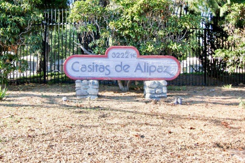 Nice park area with board in Casitas De Alipaz of San Juan Capistrano