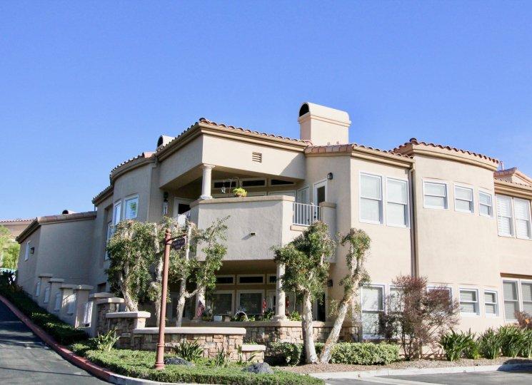 Clear skies at a road at Marbella Golf Villas in San Juan Capistrano, CA