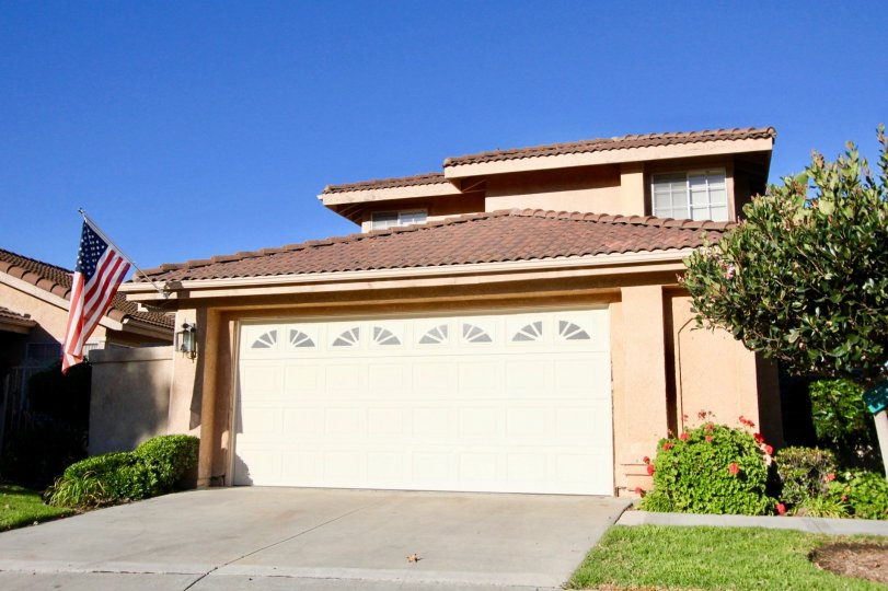 Residence at Mesa Vista South in San Juan Capistrano, California. Two story residence with attractive landscaping.