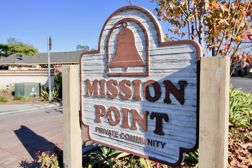 Welcome sign at Mission Point in San Juan Capistrano, CA