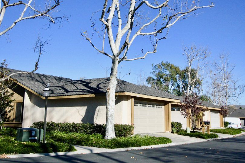 Road and houses in Mission Point in San Juan Capistrano, CA
