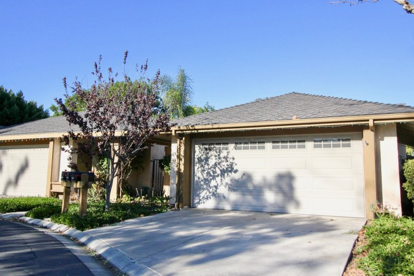 Enclosed garages in the Mission Point community of San Juan Capistrano, California.