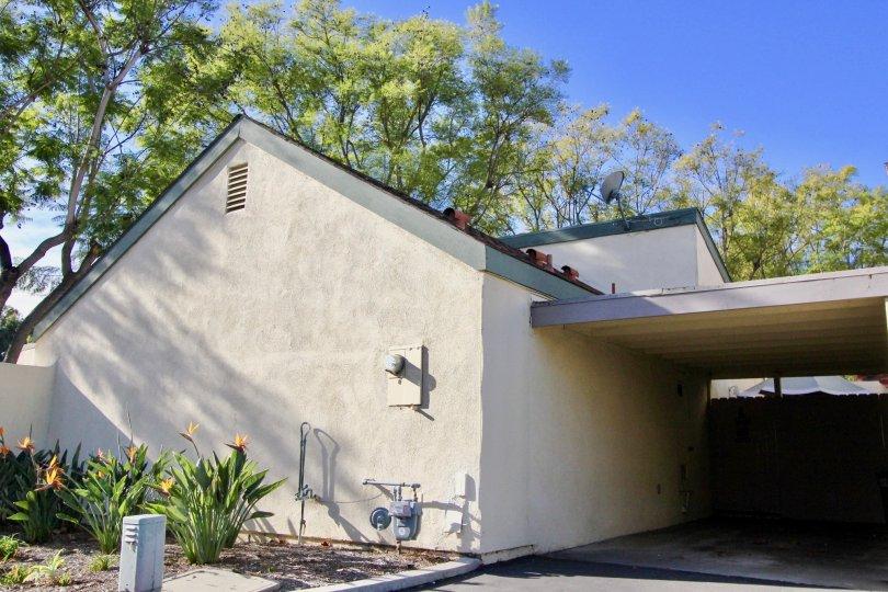 Side of house in Sun Hollow in San Juan Capistrano, CA