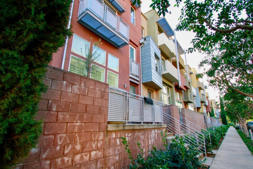 A collection of modern apartment complexes in Santa Ana, California